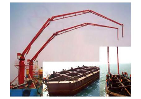 科尼乐重工HGY28/HGY32船载式混凝土布料机
