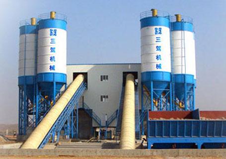 三驾机械HSM90(HZS75)商品混凝土搅拌站图片