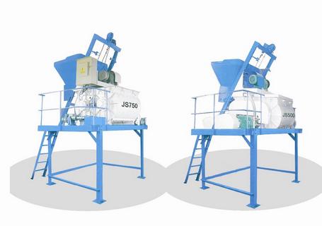 建丰机械JS750/JS500双卧轴强制式搅拌机