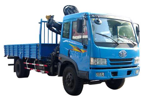 石煤QYS-4ZⅡ折臂式随车起重机