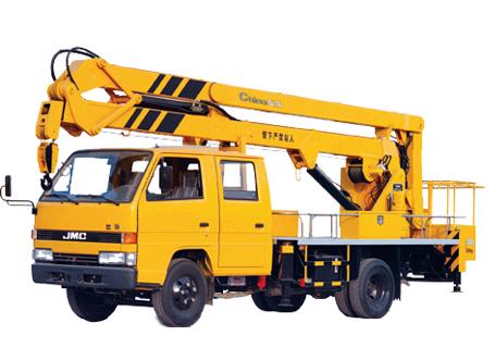 石煤SMJ5061JGK16米折叠臂高空作业车