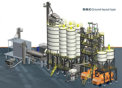 铁拓机械GHX(J)阶梯式干混砂浆成套设备