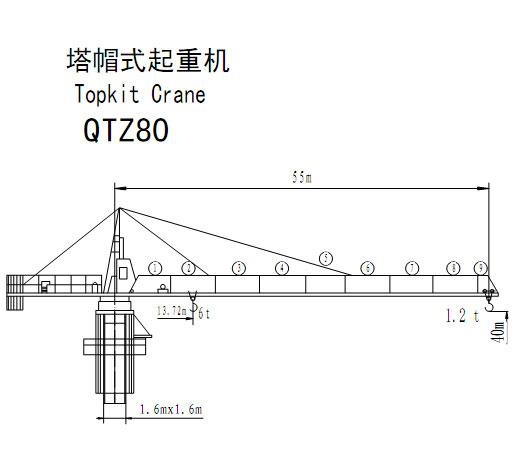 宝达QTZ80塔式起重机图片
