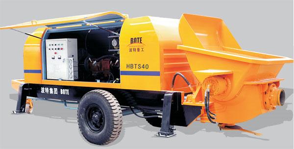波特重工HBT桩机、隧道专用混凝土泵系列拖泵