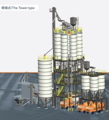 铁拓机械GHX(T)八面体塔楼式预拌干混砂浆搅拌设备