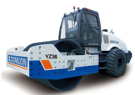 中联重科YZ36全液压双驱单钢轮振动压路机
