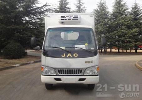 青岛雅凯江淮帅铃3,4.2米货厢,3吨冷藏车
