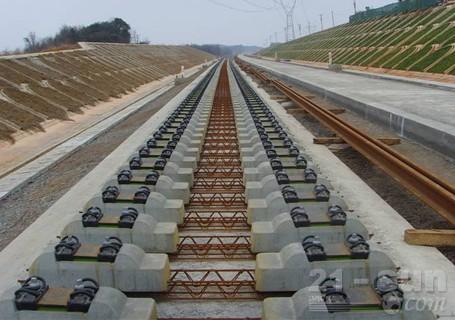 铁建重工高速铁路双块式轨枕道岔