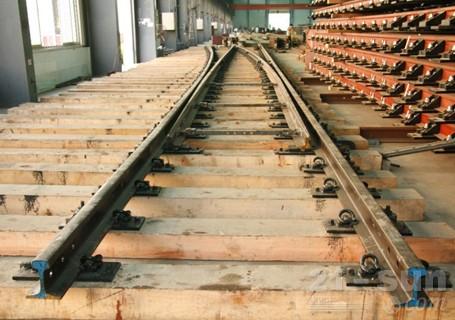 铁建重工60kgm钢轨9号单开道岔