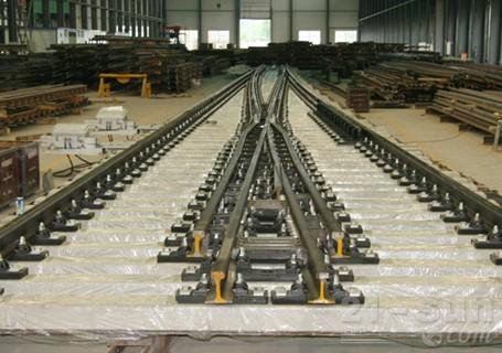铁建重工60kgm钢轨18号单开道岔