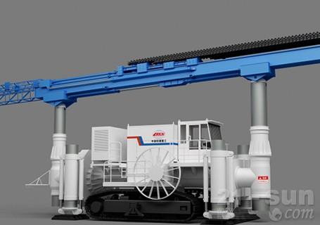 铁建重工回转中心轴式预切槽设备隧道轨道设备