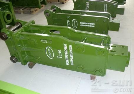 连云港工兵T130直立型破碎锤图片