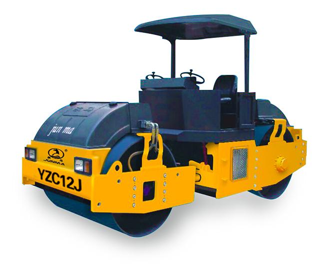 骏马YZC12J/YZDC12J双钢轮振动/振动振荡压路机