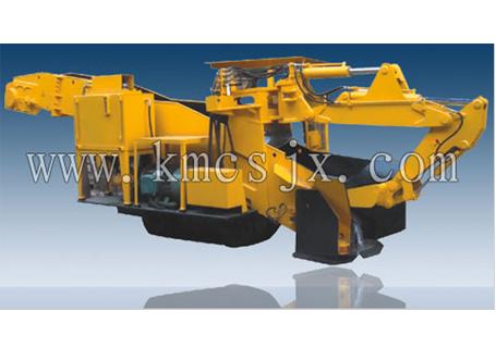 穿山机械GDZ80轨行式挖斗装渣机图片