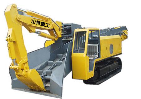 山特重工STB-80D大坡度专用履带试扒渣机