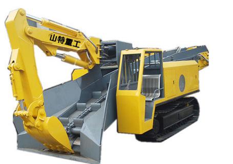山特重工STB-100D大坡度专用履带试扒渣机