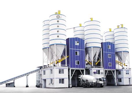 恒兴机械HZS60/90/120/180/240商品混凝土搅拌设备