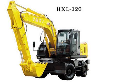 华鑫重工HXL-120360度轮式挖掘机图片