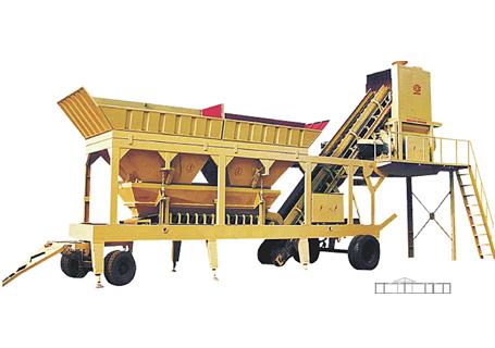 恒兴机械YHZS25/35/50/75移动式混凝土搅拌设备(公路