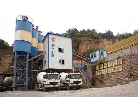 恒兴机械HZS系列高速铁路专用高性能混凝土搅拌设备