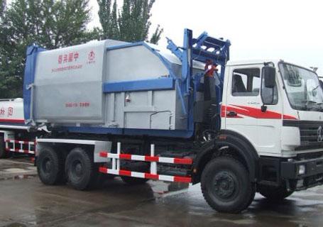 北方重工BZ5250ZXX型25吨车厢可卸式垃圾车图片