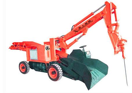 襄工LWT-40带钻头小型扒渣机