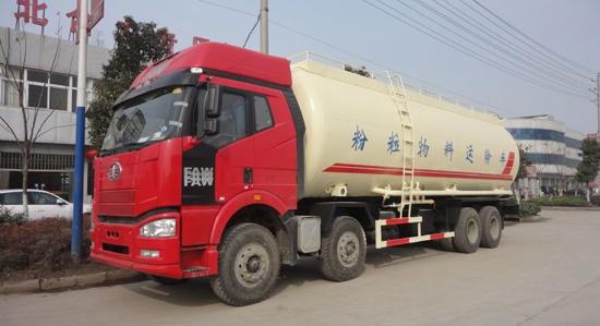 湖北合力HLQ5312GFLC低密粉粒物料运输车