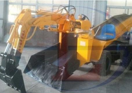 帅龙重工SWY-120/46.1L轮胎式挖掘扒渣机图片