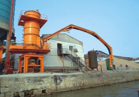 海盛重工粉体气力卸船机