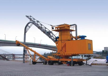 海盛重工轮胎移动连续气力卸船机