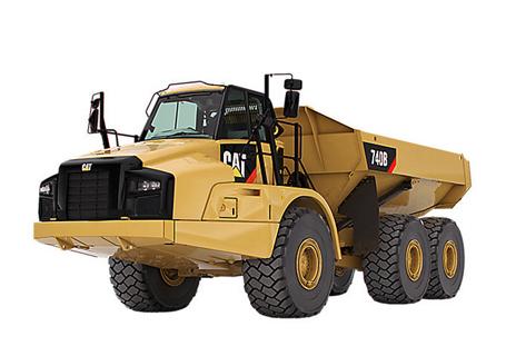 卡特彼勒735B三轴铰接式卡车