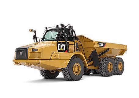 卡特彼勒725三轴铰接式卡车