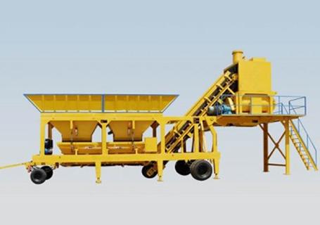 立杰机械HZS90移动混凝土搅拌站图片
