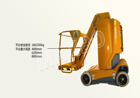 穆克AW09003垂直杆式高空作业平台图片