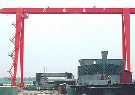 钇广重机20+20TMH吊造船用单主梁电动葫芦门式起重机