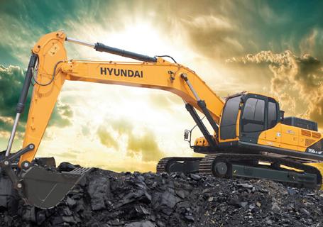 现代R350LC-9V挖掘机