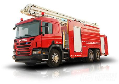 中联重科ZLJ5302JXFJP25举高喷射消防车