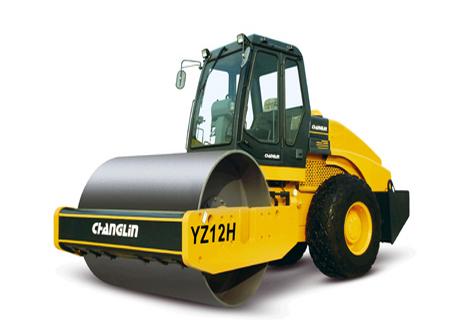 常林公司YZ12H液压单驱振动压路机