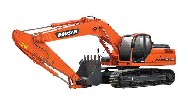 斗山DX300LC挖掘机图片