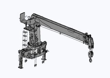 常林公司SQ12直臂伸缩式随车起重机