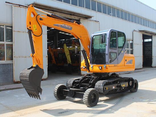 犀牛重工X8轮式履带挖掘机