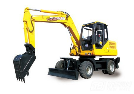 愚公机械WYL75X2-8轮式挖掘机