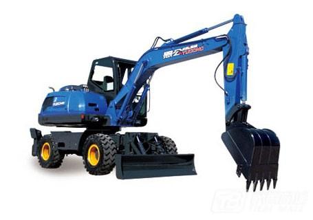 愚公机械WYL85X4-9轮式挖掘机