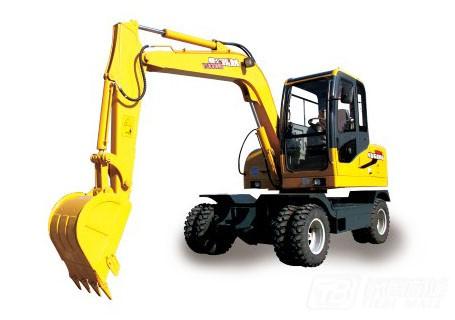 愚公机械WYL65X4-8轮式挖掘机