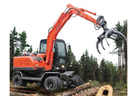 劲工JG6095J轮式夹装挖掘机