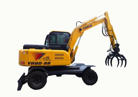 忆辉YH80-9B液压挖掘机(带夹木器)