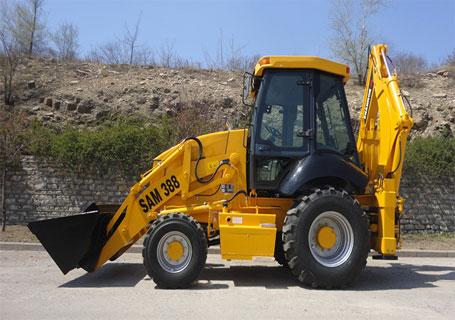 山猛机械SAM388挖掘装载机