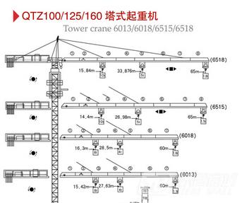 百脉建机QTZ100塔式起重机