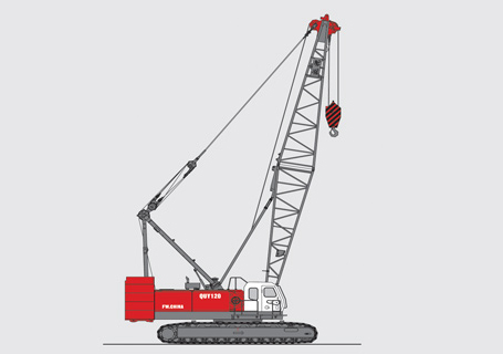 抚挖QUY120履带式起重机