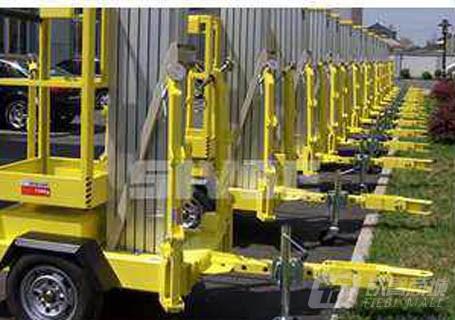 赛奇拖车式单桅柱高空作业平台高空作业车/平台
